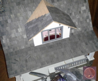The roof almost done