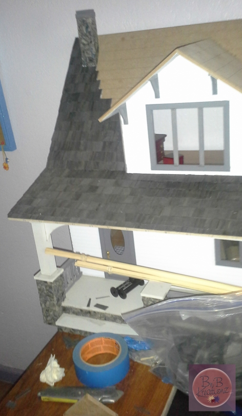 Shingling the roof