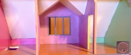 The top three rooms prior to being glittered