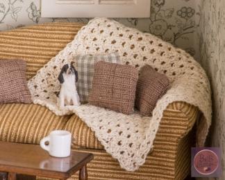 brown woven pillows sq-2151